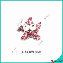 Breloque étoile rose en alliage de zinc rose en métal