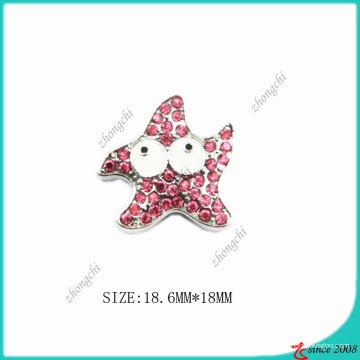 Charme de liga de zinco de metal rosa rosa