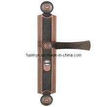 Manija de puerta de bronce roja de alta calidad de Fusim (FA-6027LL)