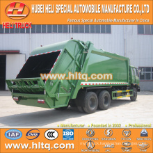 DONGFENG 6x4 16/20 m3 heavy duty waste rear loader truck diesel engine 210hp with pressing mechanism