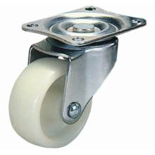 Roda giratória de roda de mobiliário de nylon (branco)