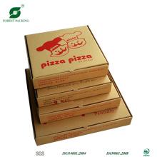 Размер коробки Vorious коричневый пиццы с водяным знаком для печати