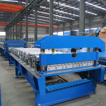 Bergelombang Sheet Metal Roofing Mesin Roll Forming