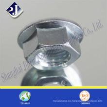 DIN6923 Tuerca de brida con zinc