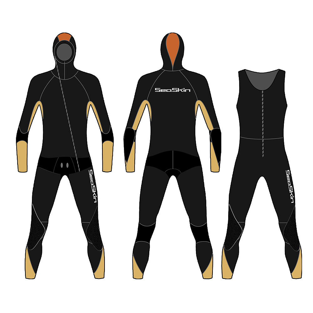 Seaskin Two Pieces Wetsuit Men