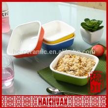 Ceramic round bakeware snack bowl bread holder salad bowl cake bakeware