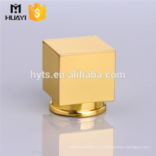 bouchon de bouteille de parfum de fin carré de zamac