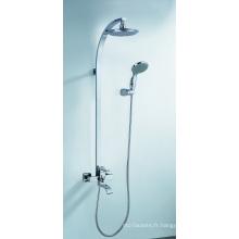 Système de douche de tête de pluie de mélangeur de douche en laiton