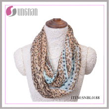 2016 Spring Fashion Leopard Pattern Sexy Women Infinity Scarf