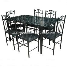 Ensemble de chaises en métal moderne en métal 1 table à manger 6