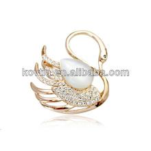 Прекрасная лебединая бриллиантовая брошь для девочек