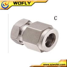 Compressão hidráulica Cap pu metric tube fittings