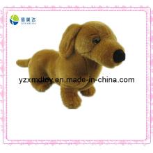 Brinquedo doce do cão do marrom da peluche