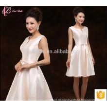 Curto Suzhou Factory Satin Retail vestido de dama de honra
