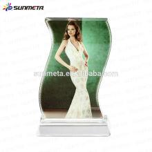 Direct China Factory Haute Qualité Amérique Hot Selling Sublimation Impression en cristal vierge Cadre photo Souvenir en cristal