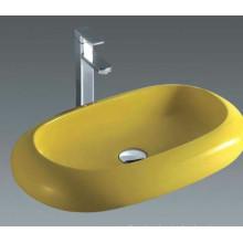Lavabo de cerámica popular del arte, lavabo del tocador de la lavabo del cuarto de baño (7042Y)