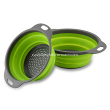 Kitchen+Foldable+Rubber+Strainer