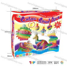 arena coloreada para niños