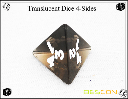 Translucent Dice 4-Sides