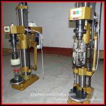 Semi-automatic capping machine for aluminium caps
