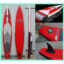 2015 Red Race Board, planche de surf gonflable avec grand aileron amovible