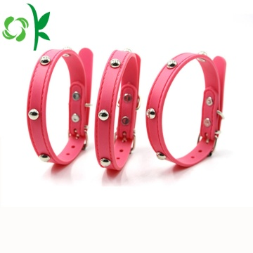 Silicone Cat Collar Custom Dog Collar met klinknagel