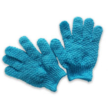 100% acrylic daily use plain style function custom winter knitted gloves