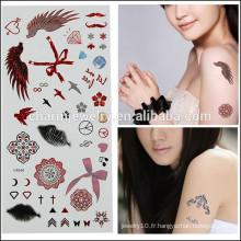 OEM Vente en gros de tatouages temporaires de mode tatouage mignon tatouage de haute qualité pour fille belle V4646