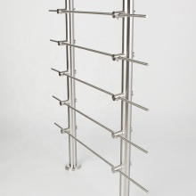 304 Removable Stainless Pipe Stair Handrail with Crossbar