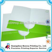 Impressão de pasta de apresentação impressa personalizada