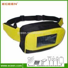 Portable solar waist bag, solar pocket bag with 2200mah battery