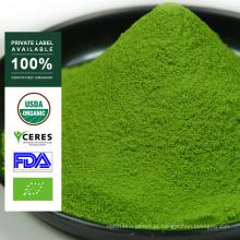 Pó orgânico do chá verde de Matcha da marca própria