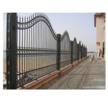 Conception extérieure de clôture en fer forgé coulissante en métal