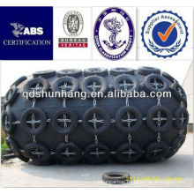 floating with chain and aircraft-tyre net pneumatic ship side fender