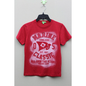 BOY'S 100% COTTON T-SHIRT WITH PRINT & EMBROIDERY