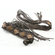 Fashion Hand made garment waxed cord braided belts-KL0052