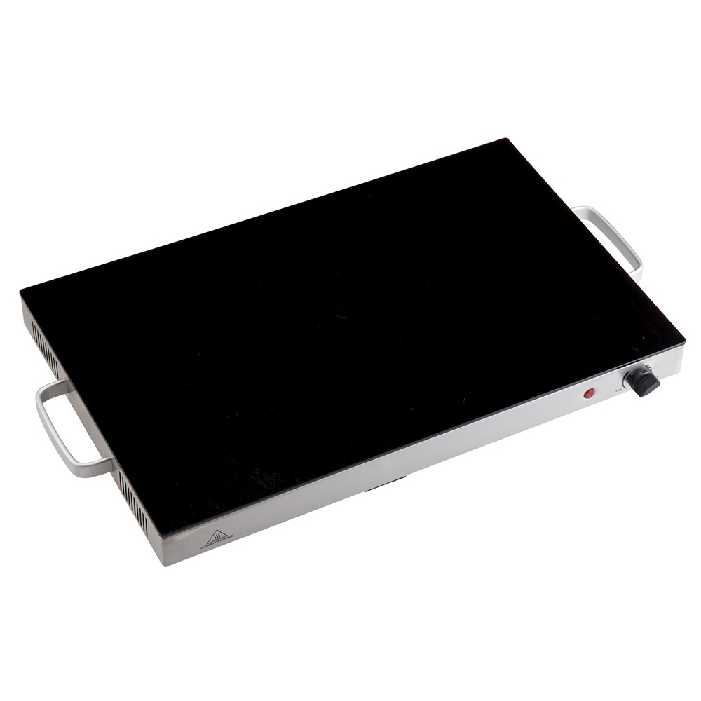 Food Warmer With Black Glass Top