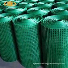 Ready to ship 1x18m per roll 1.0mm wire pvc coated welded wire mesh roll
