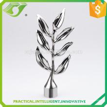 D-S0021 Leaf Finial Metal Curtain Rod Finials Wholesale