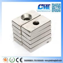 Starke N52 Seltene Erdenblock Countertsunk Neodym Magnete