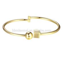 2017 Vergoldet Armreif Frau Schmuck Armband Geöffnetes Armband Für Frauen 18 Karat Vergoldet Big Bangle Armbänder