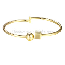 2017 Gold Plated Bangle Woman Jewelry Bracelet Open Bangle For Women 18K Gold Plated Big Bangle Bracelets