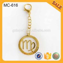 MC616 étiquette de chaîne en métal gravé à la mode pour accessoires de sacs