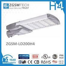 Luz de calle de IP66 200 vatios LED para la iluminación del área de estacionamiento