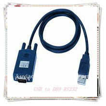High quality 1.5m Black USB 2.0 Male to DB9 Male RS232 Series Cable Nouveau