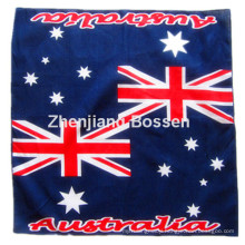 OEM Produce Customized Logo Country Flag Printed Promotional Cotton Head Scarf