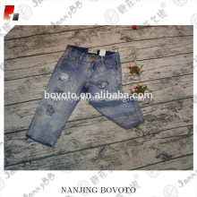 JannyBB new design men's distressed ripped jeans