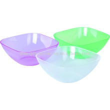 PS material customized color food grade Plastic Transparent Salad Bowl with SGS Certification