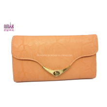 PU Leather Trifold Cowhide Money Purse Wallet with SGS (W44)