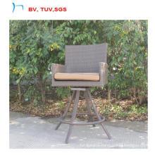 Garden Rattan High Bar Chair Can 360 Rotate (CF1458)